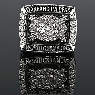 AJZYX 1980 Oakland Raiders Champion Rings Super Bowl Replica Ring Souvenir for Fans Size 11