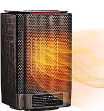 Homasy ヒーター ストーブ ファンヒーター 電気ヒーター セラミックヒーター 温風 足元 暖房器具 2秒間ぽかぽか 3段階切替 首振り機能 自動オフ機能 過熱対策 12ヶ月間保証