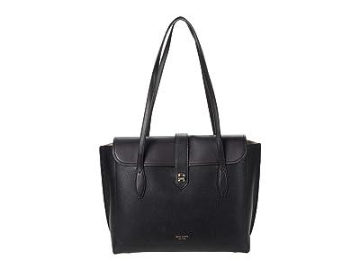 Kate Spade New York Essential Large Work Tote (Black) Tote Handbags
