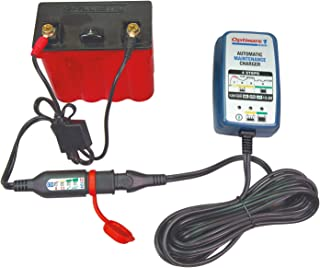 Tecmate TM-409 + O-124 Optimate 1 Duo Lead-Acid/AGM Kit (4-Step 12V/12.8V 0.6A Charger-Maintainer Bundled with 24-7 Battery Status Smart Monitor)