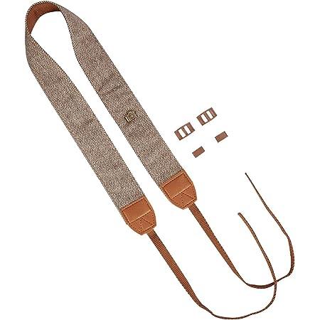 SAFESEED SLR/DSLR Camera Strap Sling belt Digital Binoculars Shoulder Neck Universal Quality Rapid quick Adjustable Comfortable Antislip Cotton Leather finish Hooks Safety cross body women men (Brown)