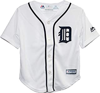 Majestic Athletic Detroit Tigers Home White Infant, Toddler, Preschool Cool Base Jerseys