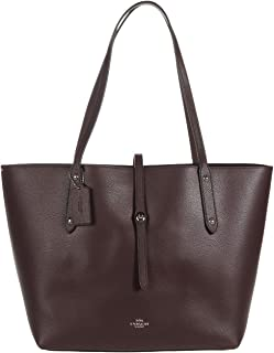 Women's Polished Pebbled Leather Market Tote