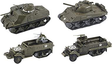 InAir Classic Armour E-Z Build Tank Model Kit - 4-Pack Assortment - 1:32 Scale