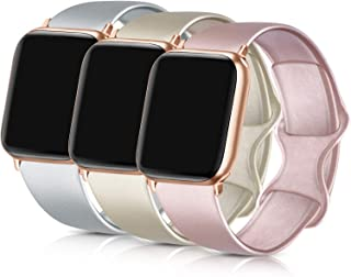 ATUP Compatible with for Apple Watch Band 38mm 40mm 42mm 44mm Women Men, Soft Silicone Replacement Bands Strap for iWatch Apple Watch Series 5, Series 4, Series 3, Series 2, Series 1