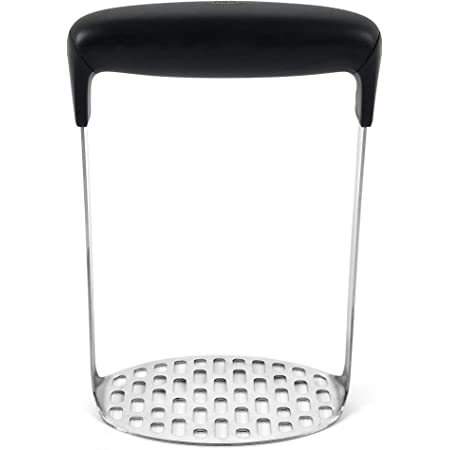 OXO Good Grips Smooth Potato Masher, Stainless Steel,Black/Silver,1 EA