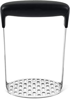 OXO Good Grips Smooth Potato Masher, Stainless Steel,Black/Silver,1 EA
