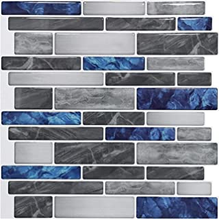 Art3d 10-Sheet Premium Self-Adhesive Kitchen Backsplash Tiles in Marble, 12