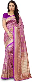 Sareeka saree Bnarasi Silk Saree For Wedding (Woman Saree With Unstich Blouse)