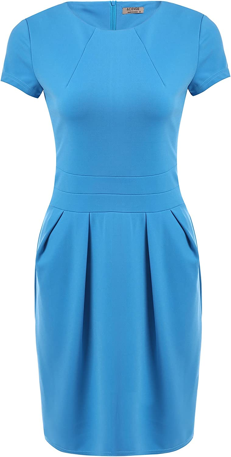 ACEVOG Women's Work Dress Free shipping / New Official Wear B Business El Paso Mall Retro to