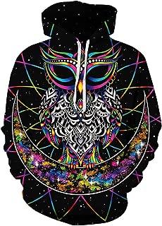 Unisex Hoodie 3D Printed Sweatshirt with Big Pockets Hooded Pullover