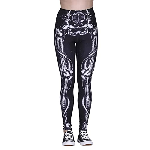 0f9811a12307dc HDE Trendy Design Workout Leggings - Fun Fashion Graphic Printed Cute  Patterns