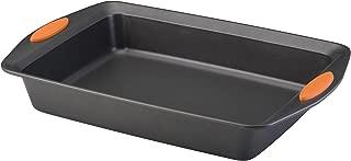 Rachael Ray 54072 Yum -o!  Nonstick Bakeware Baking Pan With Grips / Nonstick Cake Pan With Grips, Rectangle - 9 Inch x 13 Inch, Gray