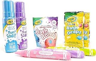Crayola Bath Time Bundle - 8 Items; 2 Foaming Soaps, 2 Bath Drops Fizzers, 3 Body Wash Pens & 1 Bath Fizzer