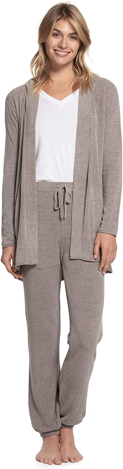 Barefoot Dreams CozyChic Ultra Lite Hooded Cardi, Women's Hooded Cardigan, Open Sweater, Casual-Chic, Soft Sweater
