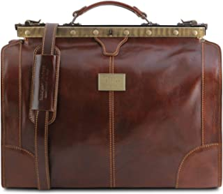 Tuscany Leather Madrid Borsa da viaggio in pelle - Misura piccola Marrone