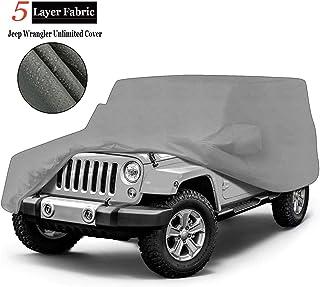 iiSPORT Durable 4-Door SUV Car Cover Custom Fit Wrangler Unlimited Wrangler CJ,YJ, TJ,& JK - Water Resistant Dustproof Veh...