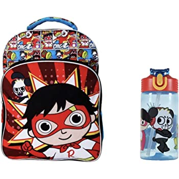 Ryan's World Ryan School Backpack Bookbag Lunch Set 16 inch Boy
