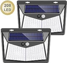 Luces Solares, LETTURE 2 Paquetes Luz Solar Exterior 208 LED