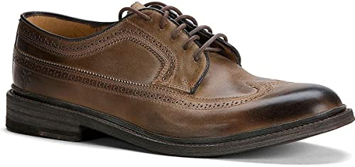 FRYE Hommes's James Wingtip Oxford chaussures Round Toe Tan US