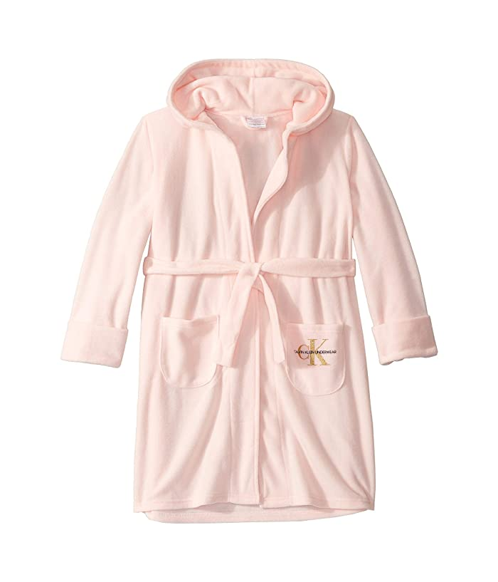 Hooded Cozy Robe w/ Pockets (Little Kids/Big Kids) (Crystal Pink) Girl's Pajama