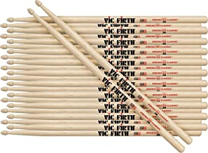 Vic Firth 12-Pair American Classic Hickory Drumsticks Wood 8D