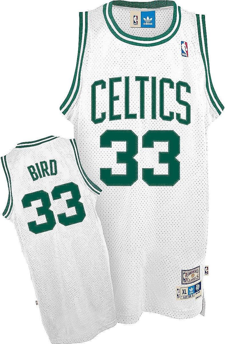 Amazon.com : NBA Boston Celtics Larry Bird Swingman Jersey, White ...