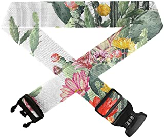 Frogs Green Colorful GLORY ART Suitcase Straps TSA Approved Lock Travel Bag Accessories,1-Pack Adjustable Luggage Belt for 20-32 Suitcase
