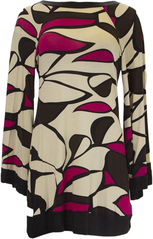 ANALILI Women's Ivory Abstract Print Low Cut Back Boho Dress 881AI13