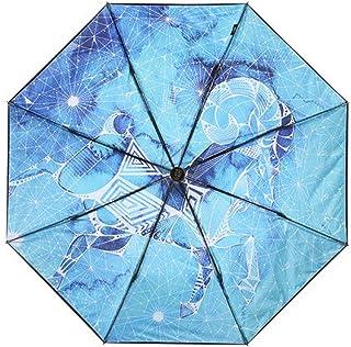 Color : Red Red Optional Umbrella JSSFQK Household Umbrellas Sun Protection UV Umbrellas Creative Handle Folding Umbrellas Blue