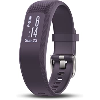 Garmin vívosmart 3, Fitness/Activity Tracker with Smart Notifications and Heart Rate Monitoring, Purple