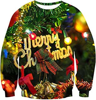 Men Women Ugly Christmas Sweater 3D Funny Print Pullover Long Sleeve Sweatshirts