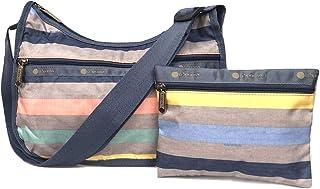 LeSportsac Gazebo Classic Hobo Crossbody Handbag + Cosmetic Bag, Style 7520/Color F106, Colorful Stripe
