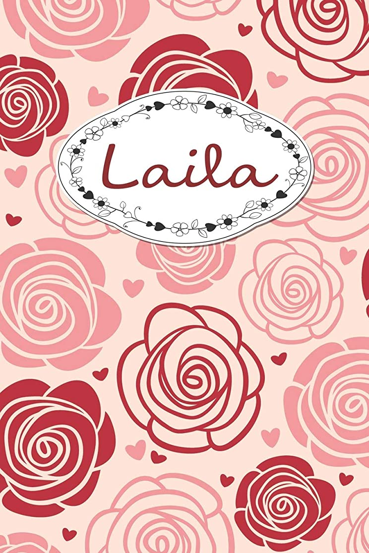 Laila: Personalised Notebook / 120 Pages / Dot Grid / Perfect for journaling and writing notes. auaxgehw7