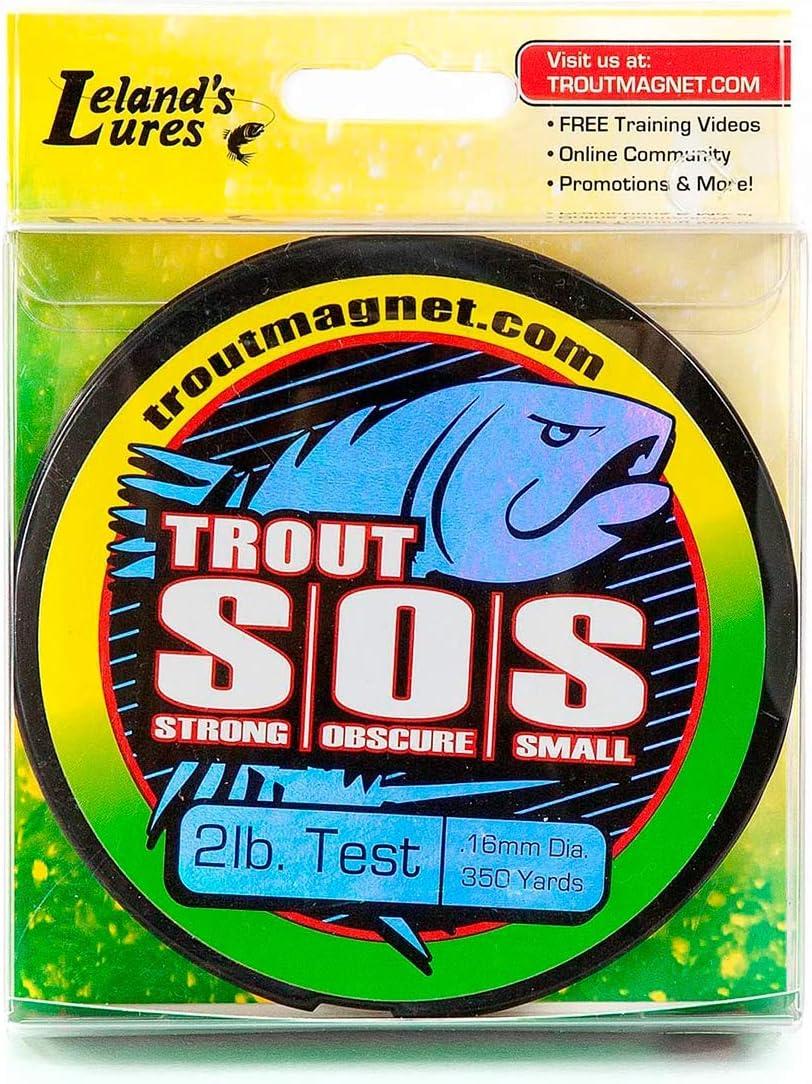 Fishing Line Trout Magnet S.O.S 2lb, 4lb, 6lb Test 350yd