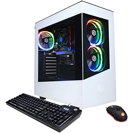 CyberpowerPC Gamer Master Gaming PC, AMD Ryzen 3 3100 3.6GHz, GeForce GT 1030 2GB, 8GB DDR4, 240GB SSD, 2TB HDD, WiFi Ready & Win 10 Home (GMA888A4), White