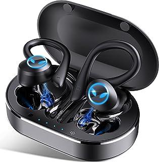 Cuffie Bluetooth Sport, Auricolari Bluetooth 5.1 Bassi Potenziati IP7 Impermeabili, Stereo Auricolari Wireless con Microfono, Cuffie Senza Fili in Ear con Cancellazione del Rumore, Controllo Touch