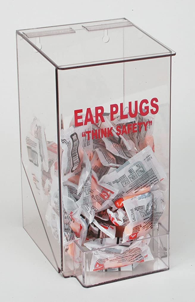 Industrial Grade 4GMR9 Clear PETG Ear Plug Dispenser, 13 X 6 X 8