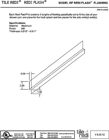 Tools & Home Improvement Tile Redi TRZF3448-BI Shower Flashing 34D ...