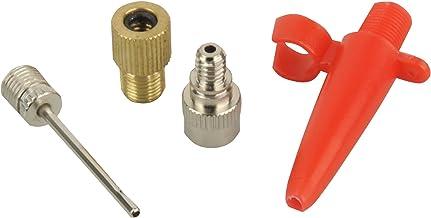 FISCHER Uniseks luchtpomp-adapter-set, 4-delig, voor luchtpompen, adapterset, zilver, eenheidsmaat EU