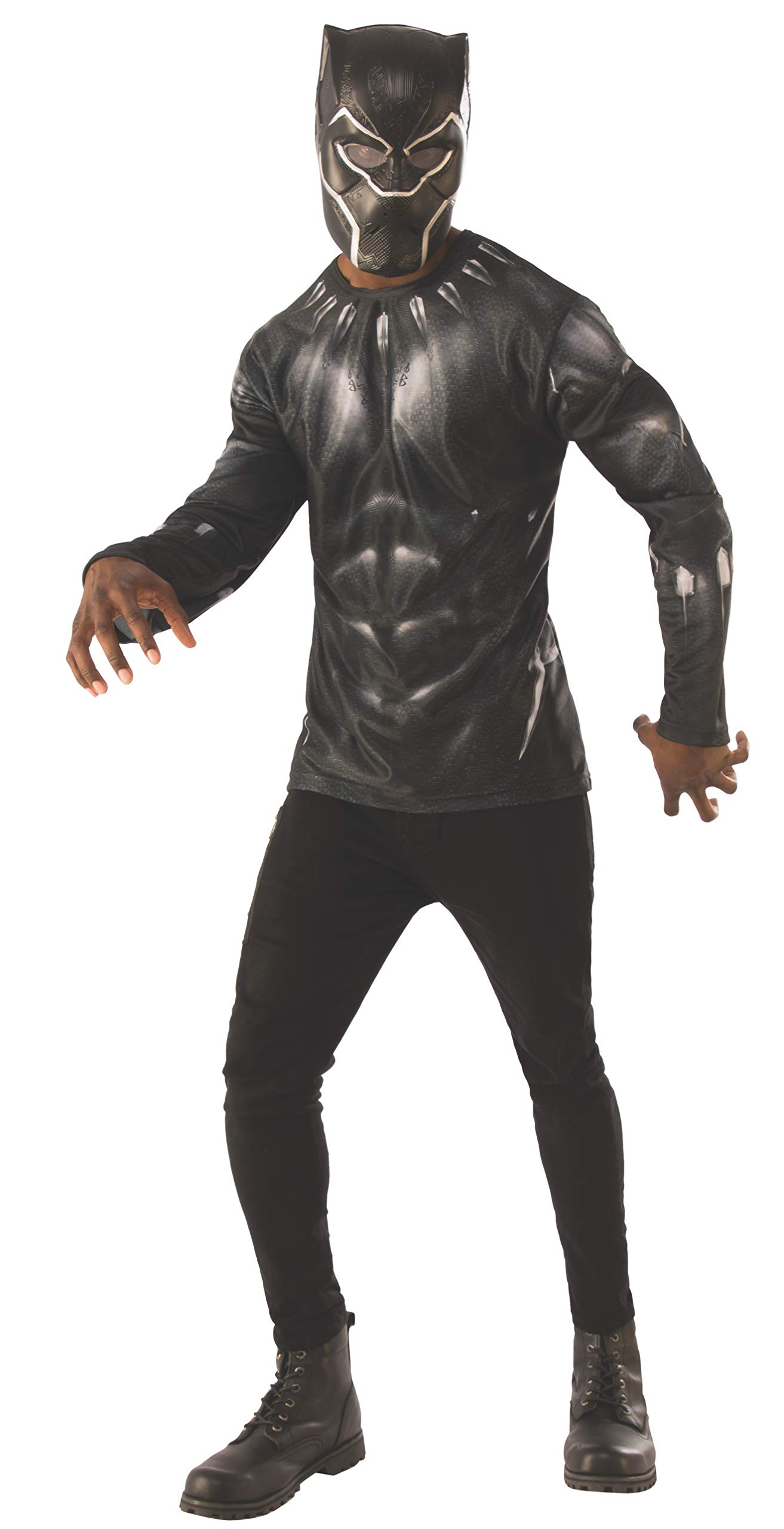 Rubie's Men's Marvel: Avengers 4 Men's Black Panther Costume Top and Mask Adult Costume