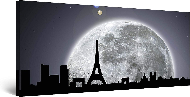 Startonight Canvas Wall Art Paris Moonlight Frame Cities - Max 45% OFF Store Under