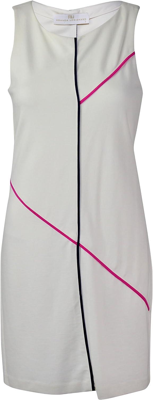 Amanda Uprichard Womens Ivory Ponte Knit Dress