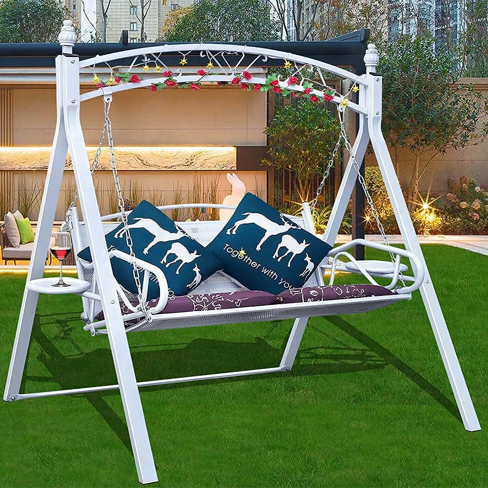 Porch Swing Chair with Stand Clearance Person Patio Se 2 Outside Max 62% OFF Mail order