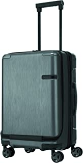 Samsonite 92052 EVOA Hard Side Spinner Suitcase Plus Front Pocket, Brushed Black, 55 Centimeters