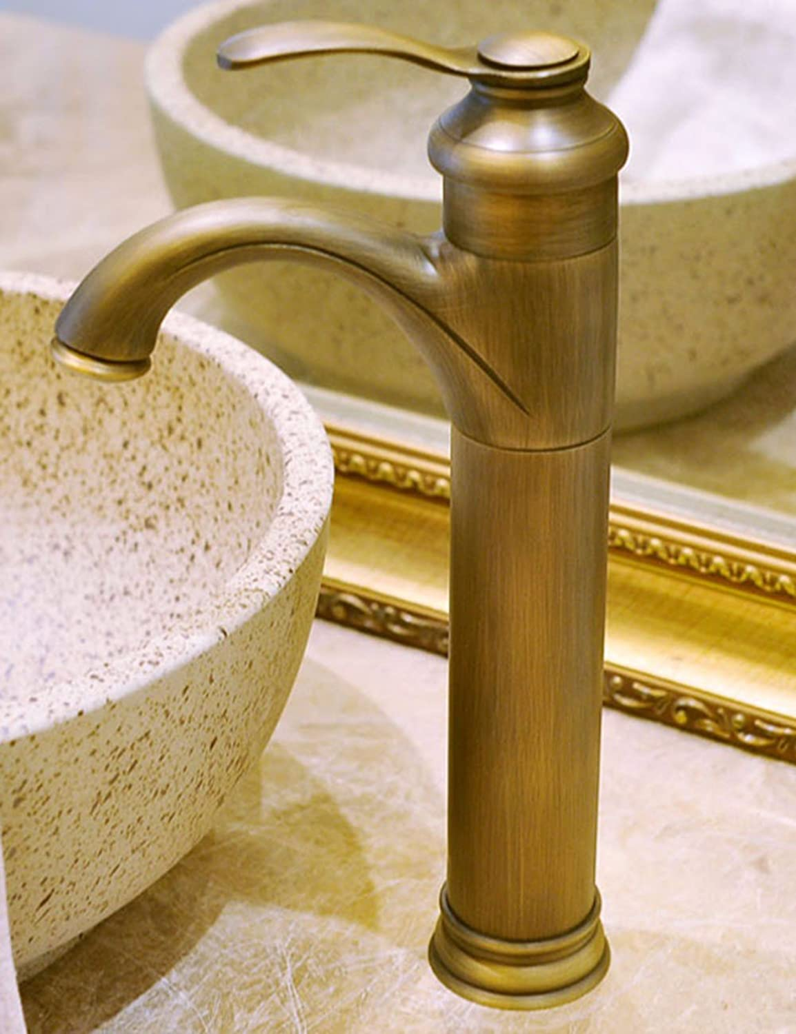 Hlluya Professional Sink Mixer Tap Kitchen Faucet Antique faucets basin mixer is a fitting and cold water faucet bronze fittings