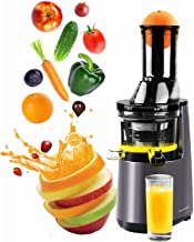 Masticating Extractor Slow Juicer, Cold Press Juicer Machine with 3