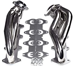 BLACKHORSE-RACING Exhaust Header Stainless Steel Manifold Exhaust Shorty Headers Performance with Gaskets Fit for Ford F150 2004-2010 5.4L V8