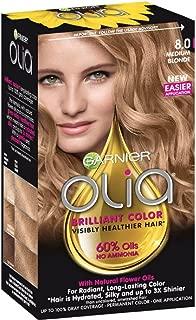 Garnier Olia Ammonia Free Hair Color [8.0] Medium Blonde 1 Each (Pack of 2)
