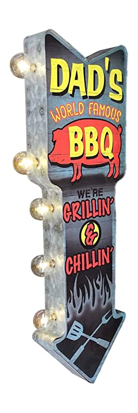 Dad's World Famous BBQ LED Sign, Large 25